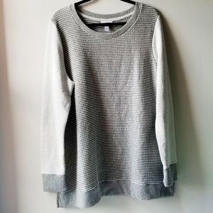 Liz Lange Maternity Gray & White Sweater XXL
